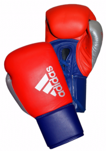 Adidas Hybrid 200 Lace Up Boxing Gloves - Red/Blue